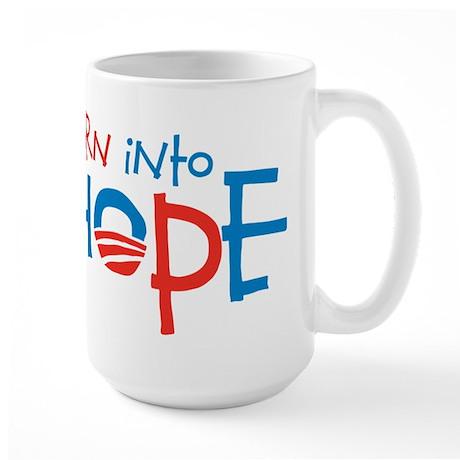 Born Into Hope - Obama Baby Large Mug