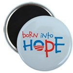 "Born Into Hope - Obama Baby 2.25"" Magnet (100 pack"