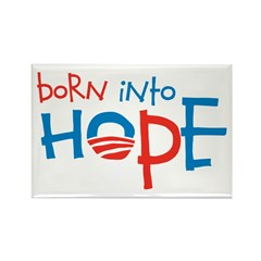 Born Into Hope - Obama Baby Rectangle Magnet (10 p