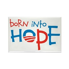 Born Into Hope - Obama Baby Rectangle Magnet (100