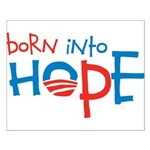 Born Into Hope - Obama Baby Small Poster
