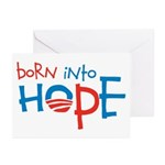 Born Into Hope - Obama Baby Greeting Cards (Pk of