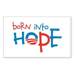 Born Into Hope - Obama Baby Rectangle Decal