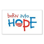 Born Into Hope - Obama Baby Rectangle Sticker