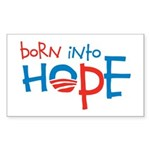 Born Into Hope - Obama Baby Rectangle Sticker 50