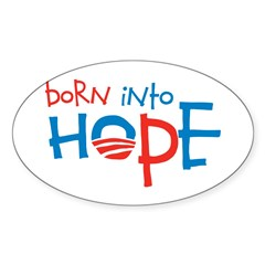 Born Into Hope - Obama Baby Oval Sticker (50 pk)