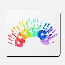 Rainbow Hands Mousepad