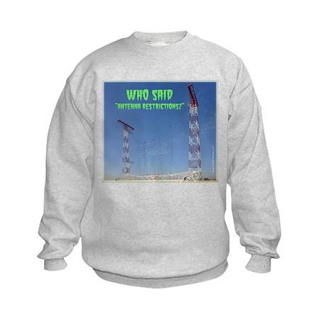 Antenna Restrictions Kids Sweatshirt