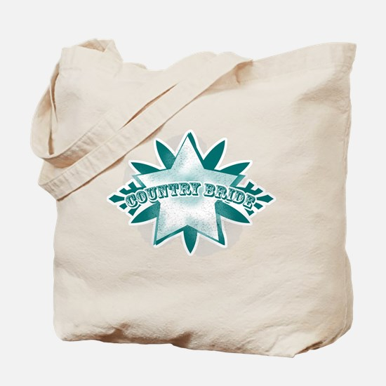 Country Bride Blue Tote Bag