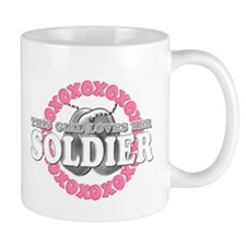 This Girls Loves Her Soldier Mug