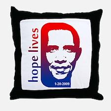 Hope Lives-Obama Throw Pillow