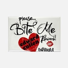 Bite Me Edward Cullen Rectangle Magnet