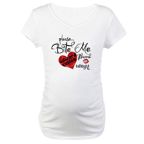 Bite Me Edward Cullen Maternity T-Shirt
