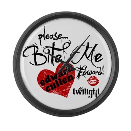 Bite Me Edward Cullen Large Wall Clock