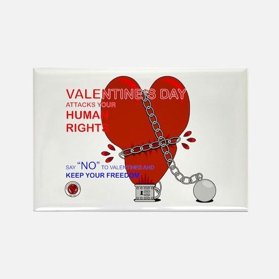 Anti-Valentine Rectangle Magnet