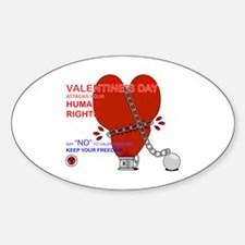 Anti-Valentine Oval Decal