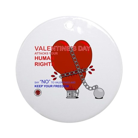 Anti-Valentine Ornament (Round)