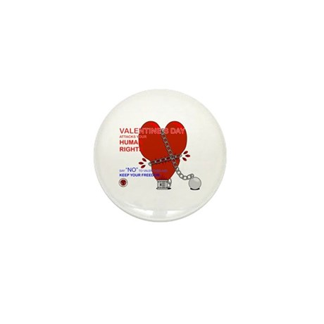 Anti-Valentine Mini Button (100 pack)