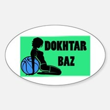 dokhtar baz Oval Decal