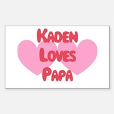 Kaden Loves Papa Rectangle Decal