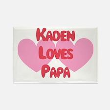 Kaden Loves Papa Rectangle Magnet