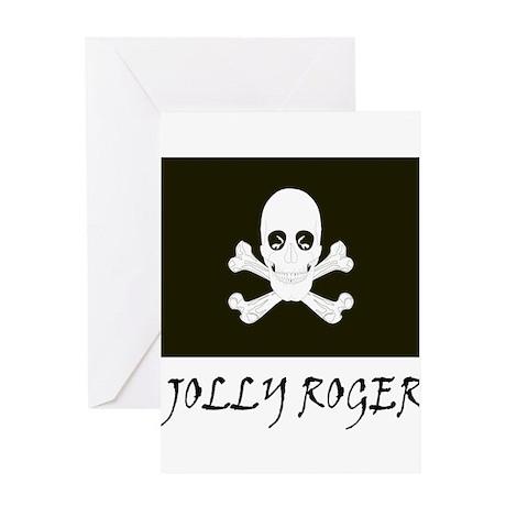 Jolly Roger Black Greeting Card