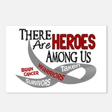 Heroes Among Us BRAIN CANCER Postcards (Package of