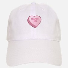 MARRY ME Candy Heart Baseball Baseball Cap