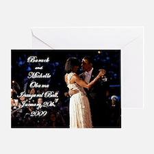 Obamas at the Inaugural Ball Greeting Card