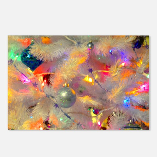 Jazzy neon tree Postcards (Package of 8)