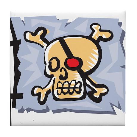 Redeye Pirate Flag Tile Coaster
