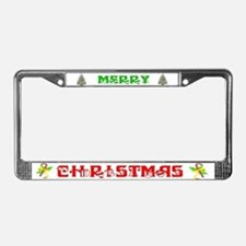 Funny Merry christmas License Plate Frame