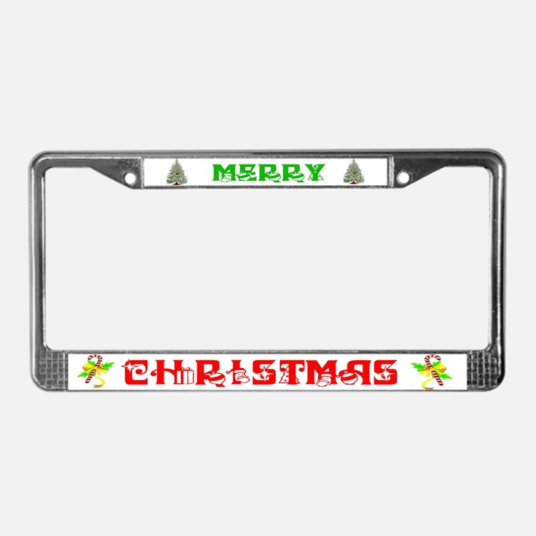 Cute Merry christmas License Plate Frame