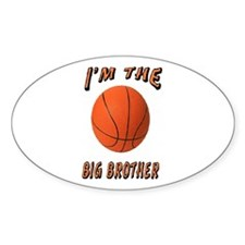 I'm the Big Brother Basketbal Oval Decal