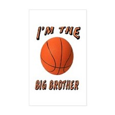I'm the Big Brother Basketbal Rectangle Decal
