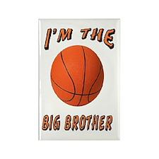 I'm the Big Brother Basketbal Rectangle Magnet