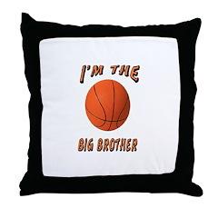 I'm the Big Brother Basketbal Throw Pillow