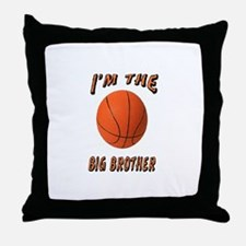 I'm the Big Brother Basketbal Throw Pillow