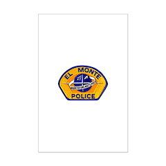 El Monte Police Posters