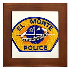 El Monte Police Framed Tile