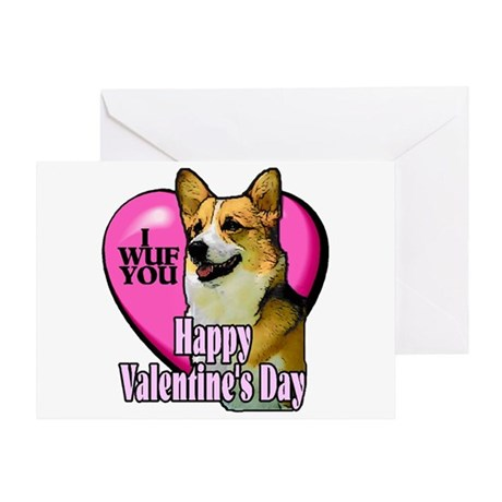 Welsh Corgi Valentines Greeting Card