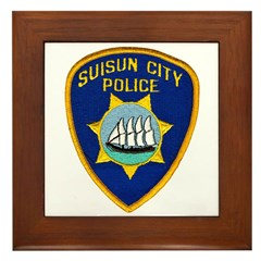 Suisun City Police Framed Tile
