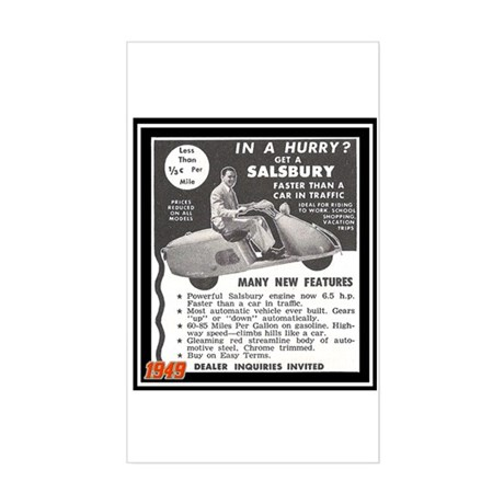 """""""Salsbury Scooter Ad"""" Rectangle Sticker"""