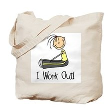 Female I Work Out Tote Bag