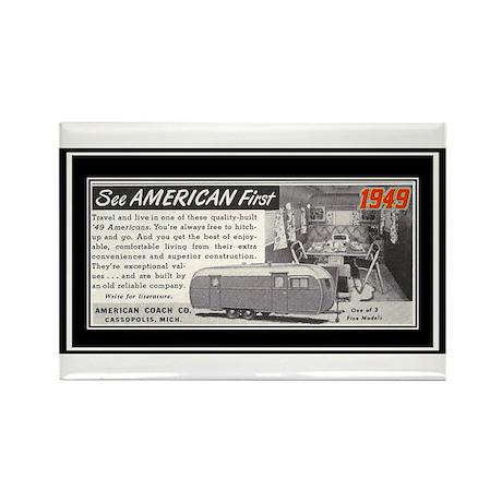 """1949 Trailer Ad"" Rectangle Magnet"