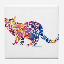 Whimsical Kitty 1 Tile Coaster