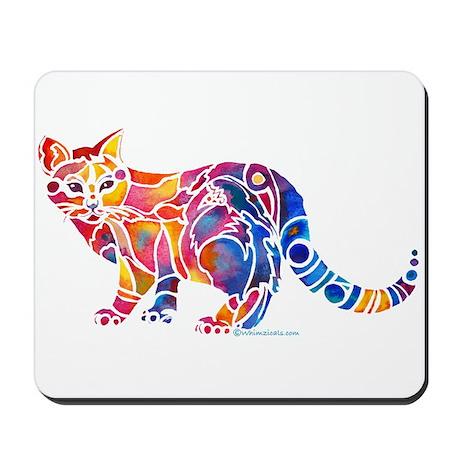 Whimsical Kitty 1 Mousepad