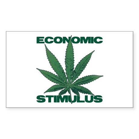ECONOMIC STIMULUS - Marijuana - Sticker (Rectangle