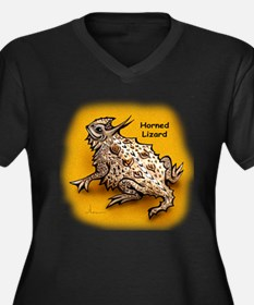 Horned Lizard Horny Toad Women's Plus Size V-Neck