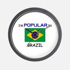 I'm Popular In BRAZIL Wall Clock